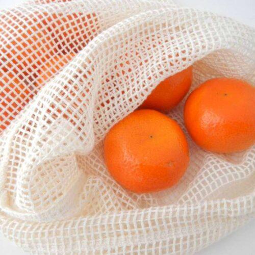 biologisch katoenen groente/fruitzakje